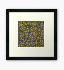 Staklo (Gray/Gold) Framed Print