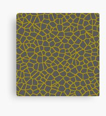 Staklo (Gray/Gold) Canvas Print