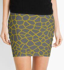 Staklo (Gray/Gold) Mini Skirt
