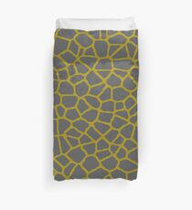Staklo (Gray/Gold) Duvet Cover