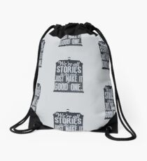 Stories Drawstring Bag
