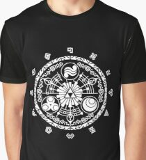 Gate of Time - White Graphic T-Shirt