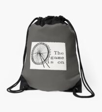 The Game Is On Drawstring Bag