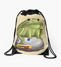 Frog Fact Drawstring Bag