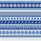 Nordic - Scandinavian Winter Blue by Susan Sowers