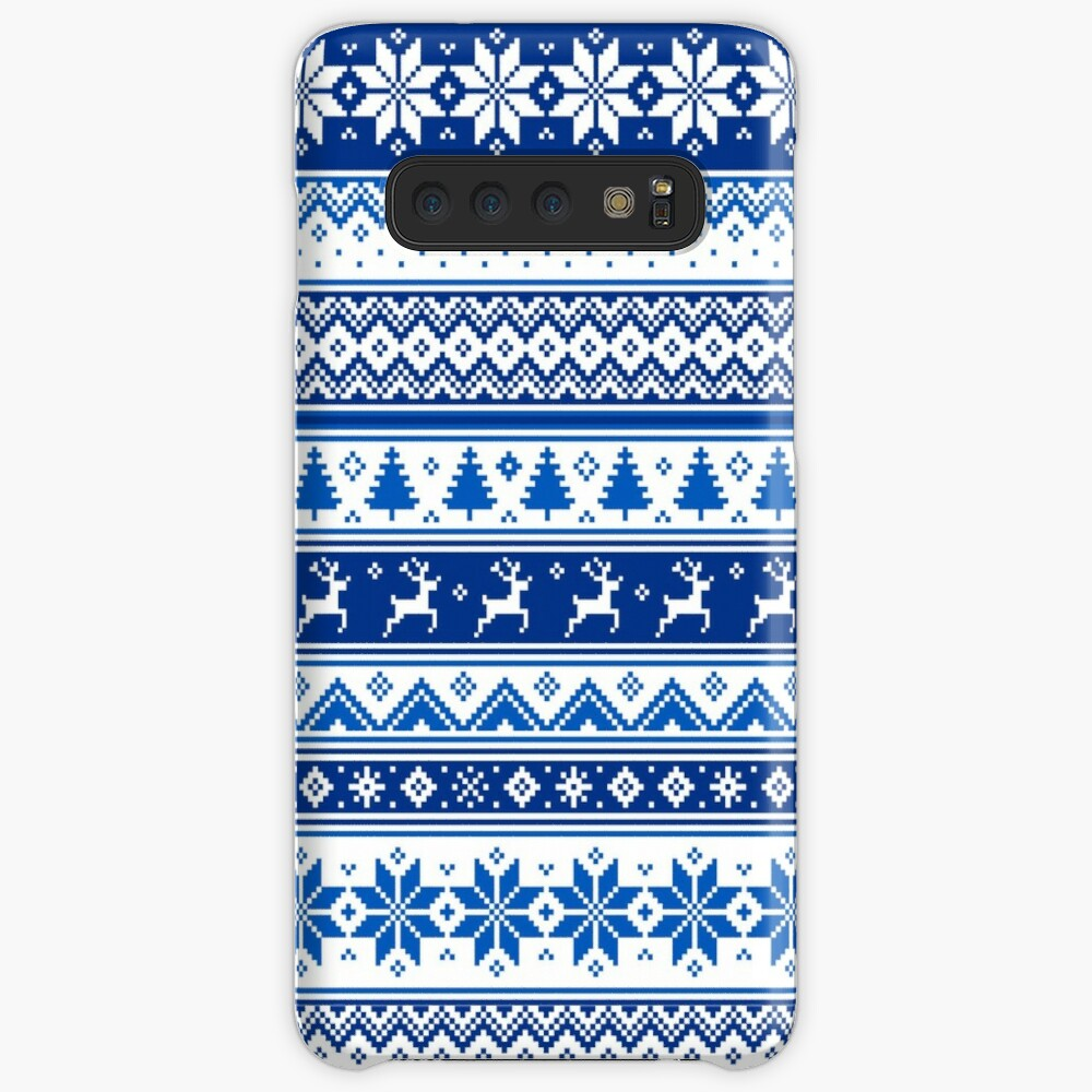 Nordic - Scandinavian Winter Blue Case & Skin for Samsung Galaxy