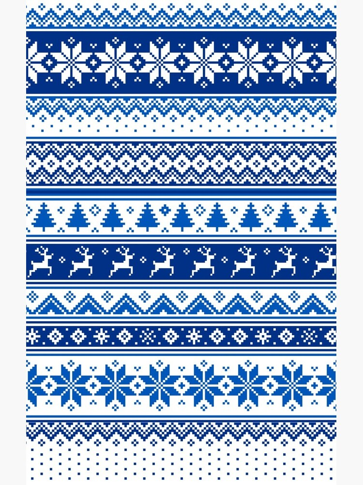 Nordic - Scandinavian Winter Blue by SSSowers
