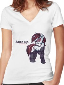 Ante Up - Augmented V2 Women's Fitted V-Neck T-Shirt