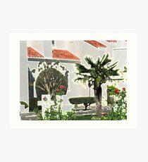Church Yard in Livermore, California Art Print