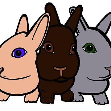 Bunny Trio by Munnaminx