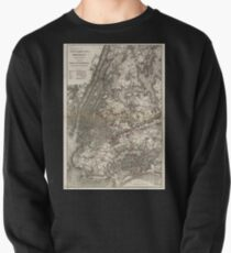 Sudadera cerrada 0152 Railroad Maps Map of New York City Brooklyn and vicinity showing surface elevated railroads in operation and