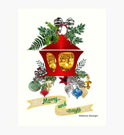 Christmas Lantern Art Print