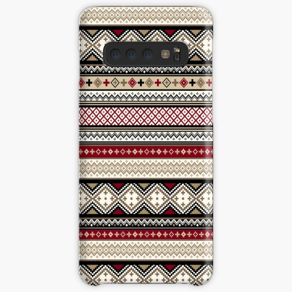 Fair Isle Christmas - warm Case & Skin for Samsung Galaxy