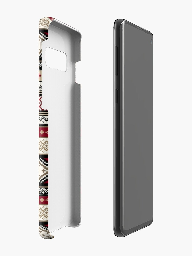 Alternate view of Fair Isle Christmas - warm Case & Skin for Samsung Galaxy