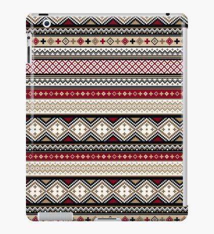 Fair Isle Christmas - warm iPad Case/Skin