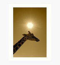 Think Giraffe Art Print