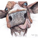 Cow Licking Lips by Meaghan Roberts
