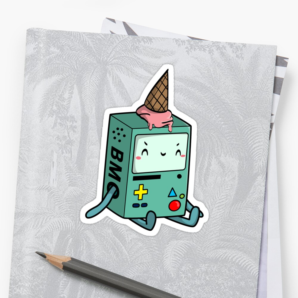 BMO adventure time Sticker Front