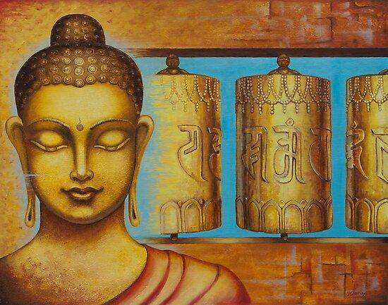 Om Mani Padme Hum by Yuliya Glavnaya
