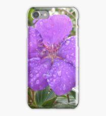 Rain drops on Lasiandra iPhone Case/Skin