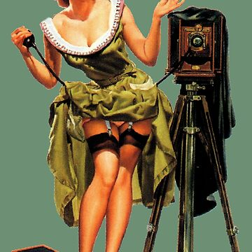 Vintage Photographer Sexy Pinup Girl by hilda74