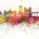 Harrogate skyline watercolor background by paulrommer