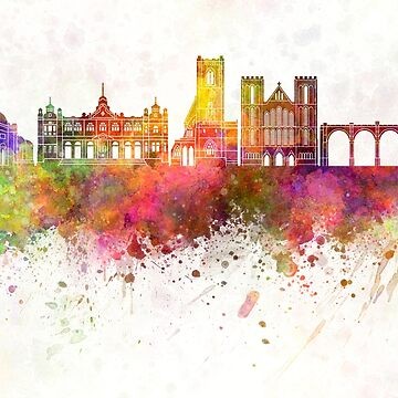 Harrogate skyline watercolor background by paulrommer