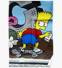 Graffiti - Bart on the Run Poster