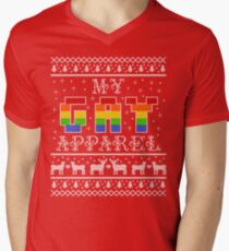711bb7e314b4 My Gay Apparel Holiday Sweater Men s V-Neck T-Shirt