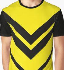 Gelb Schwarz Geometrisches Muster Grafik T-Shirt
