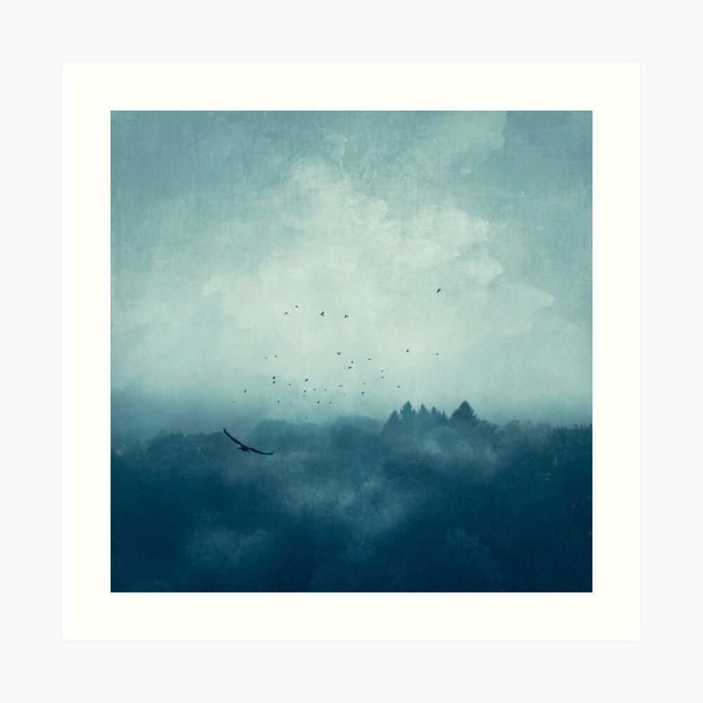 Flight Home - Mist over Landscape Art Print