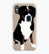 Vinilo o funda para iPhone Gran perro de montaña suizo
