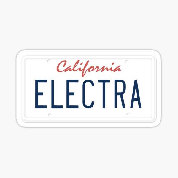 Electra CA License Plate Sticker