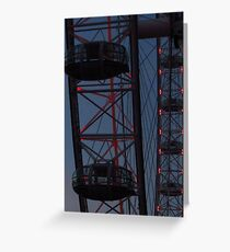 Red Lights - The London Eye Greeting Card