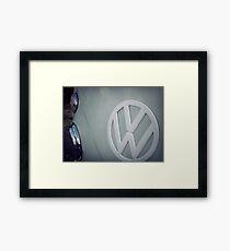 Split screen volkswagen Framed Print