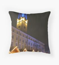 Christmas market in Lvov Throw Pillow
