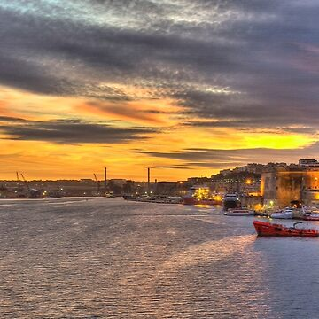 Valletta Grand Harbour Sunset  by hawkie