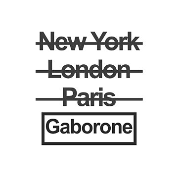 Botswana Gaborone City Text design by GetItGiftIt
