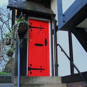 Red Door of the Boathouse Pub by AnnDixon