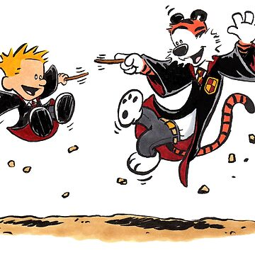 Calvin and Hobbes Magic Wands Inspired Parody by Sketchbooks