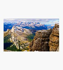 View from Monte Lagazuoi, Dolomiti, Italy Photographic Print