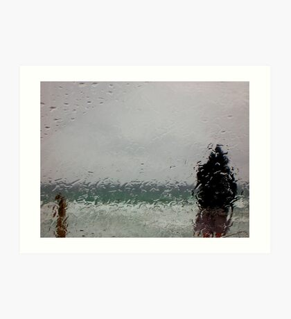 As he stands in the rain.... Art Print