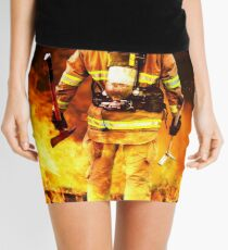 fireman go into flames with brave steps, no fear no regrate, all proude Mini Skirt