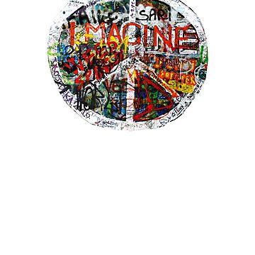 Imagine Peace graffiti street art lover punk hippie greenie gift t shirt by Johannesart
