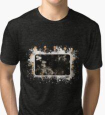 Bash terminal linux watercolor painted Tri-blend T-Shirt
