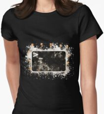 Bash terminal linux watercolor painted Women's Fitted T-Shirt