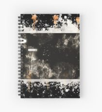 Bash terminal linux watercolor painted Spiral Notebook