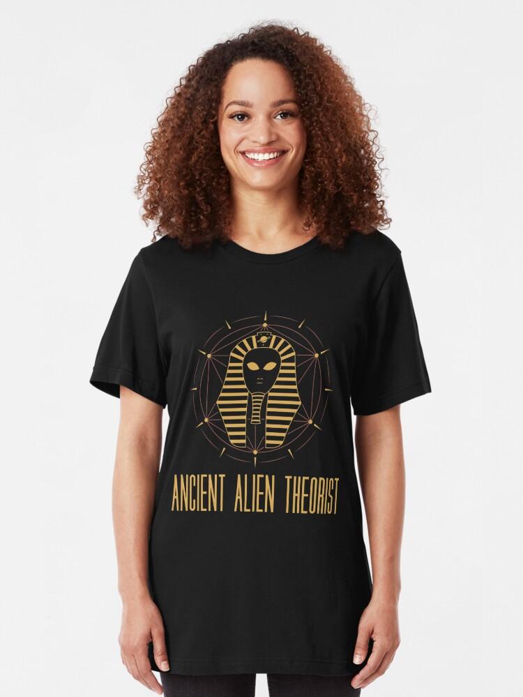 Alternative Ansicht von Ancient Alien Theorist - Ancient Alien Theory Gift Slim Fit T-Shirt