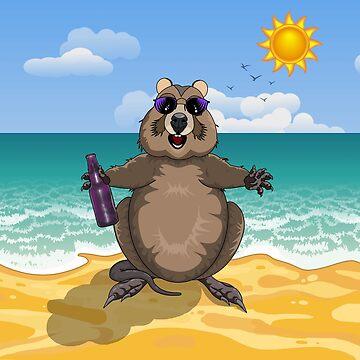 'Dude, It's Summer!'  Quokka at the Beach by AmandaMLucas