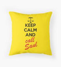Bleib ruhig und ruf Saul an Dekokissen